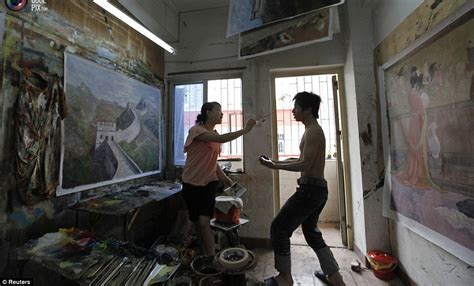 Dafen Oil Painting Village where thousands of artists
