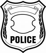 Badge Coloring Draw Hoe Police Sky There sketch template