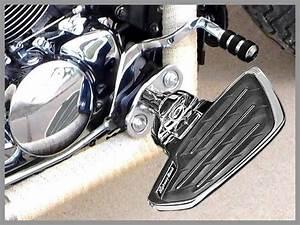 Paire Marche Pieds Pilote Honda Custom Universels