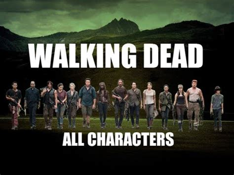 The Walking Dead  All Season Characters & Cast Youtube