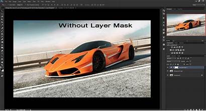 Photoshop Change Painting Road Layer Carefully Sky