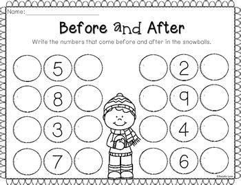 no preschool before kindergarten winter no prep math and literacy worksheets for 261
