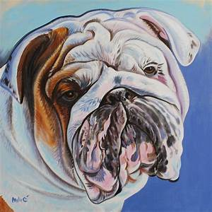 17 Best images about Bulldog Paintings by Dragoslav Milic ...