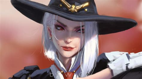 Download 1920x1080 Overwatch Ashe Hat White Hair