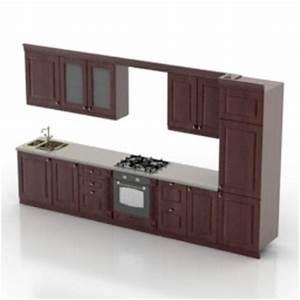 modern kitchen furniture model 3d model downloadfree 3d With kitchen furniture 3d free