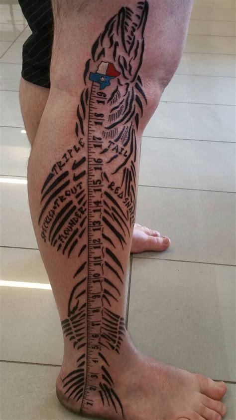 houston fisherman  awesome leg tattoo