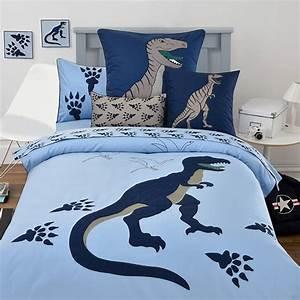 100, Cotton, Children, Cartoon, Embroidered, Blue, Dinosaur, 3