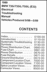 1989 Bmw 735i 735il 750il Electrical Troubleshooting Manual