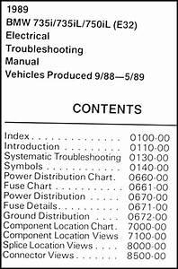 1989 Bmw 735i 735il 750il Electrical Troubleshooting