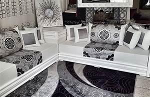 Salon Marocain Blanc : salon marocain diamant blanc 2016 sous mimouni jardin ~ Nature-et-papiers.com Idées de Décoration