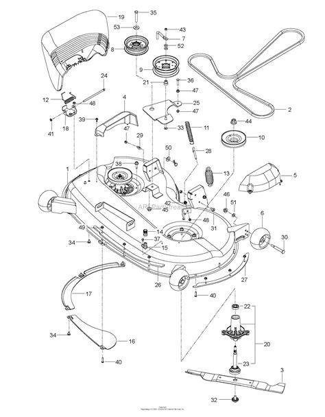 Deck Part Diagram by Husqvarna Z 246 967271401 00 2016 11 Parts Diagram For