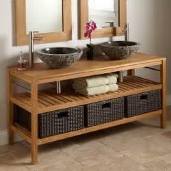 Primitive Bathroom Decorating Ideas by Durable Chic Teak Contemporary Bathroom Vanities And Sink