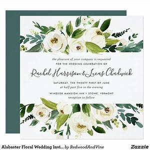 alabaster floral wedding invitation square floral With wedding invitations framed with pressed flowers