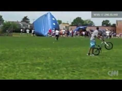 bounce house blows away 13 injured when bounce house blows away