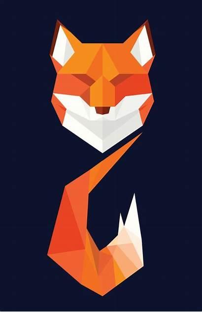 Fox Geometric Animal Polygon Animals Tattoo Society6