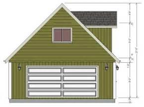 20 X 24 Dormer Garage Plans with Loft