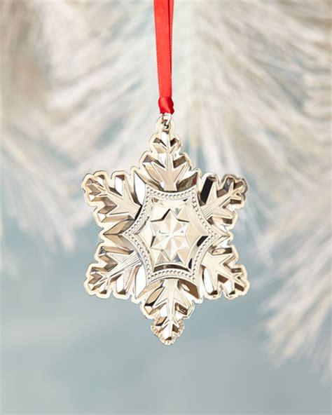 gorham sterling silver snowflake christmas ornament
