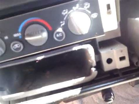 heater ac control panel replacement youtube