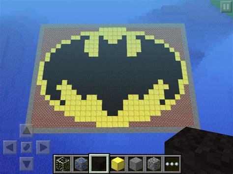 minecraft batman logo  steps instructables