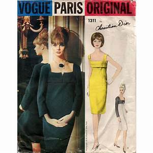 superbe 1960 vintage christian dior vogue paris original With robe gaine amincissante