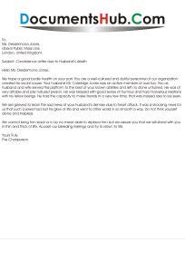 condolence letter due  husbands death documentshubcom