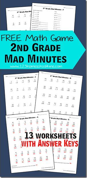 Free Math Games 2nd Grade Mad Minutes  Fun Math Games, Free Maths Games And Math Worksheets