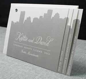 kaitie boston skyline wedding invitation booklet sample With mini booklet wedding invitations