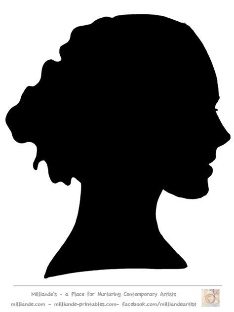Female Face Profile Silhouette