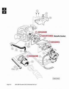 Club Car Golf Car Oem Carburetor And Gasket Kit