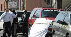 another gun murder 22 dead outside bed stuy building while polishing car ny