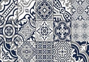 Set De Table Carreau De Ciment : set de table carreaux de ciment madeleine bleu nuit ~ Teatrodelosmanantiales.com Idées de Décoration
