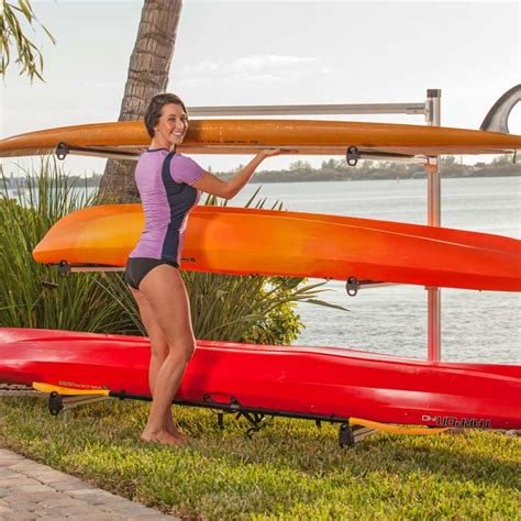 kayak storage rack storage rack for canoes kayaks sup boards and other