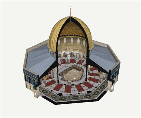Felsendom Jerusalem Innenraum 3D in Google Earth ...