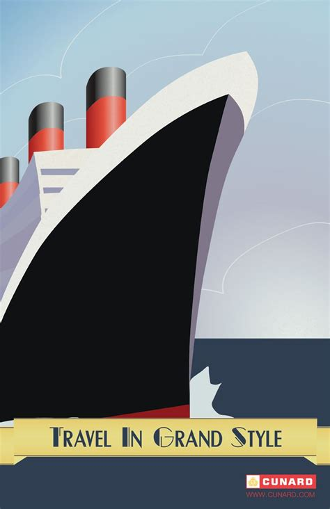 Art Deco Boat Poster by 305 Best England Love Cruise Lines Royal Mail Ships