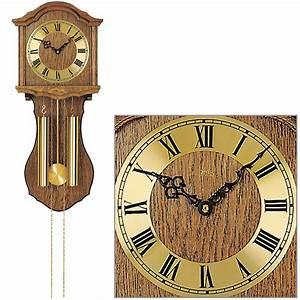 Wanduhr Mit Pendel : ams 248 4 wanduhr mit pendel mechanisch holz eiche heimuhr ~ Watch28wear.com Haus und Dekorationen