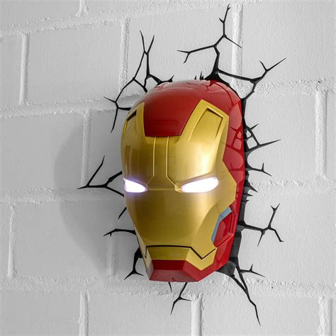 iron man wandlampe getdigital