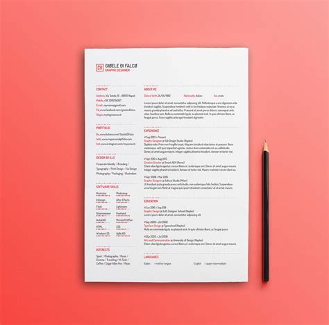clean resume templates  psd ai  word docx