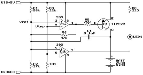Usb Battery Charger Circuit Nimh Nicd Electronics