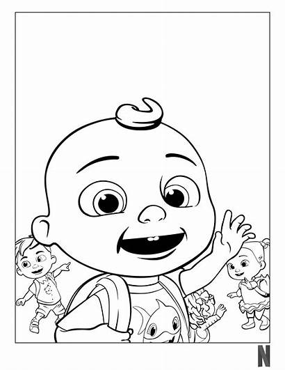 Coloring Cocomelon Pages Characters Character Popular Fictional
