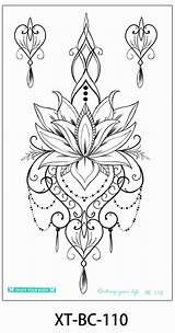 Tattoo Coloring Chandelier Designs Henna Hawaii sketch template