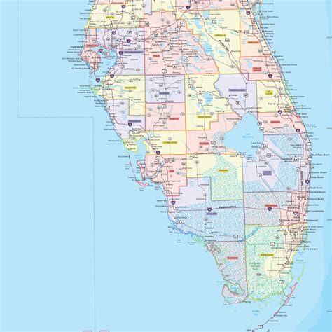 florida map counties cities wiring library