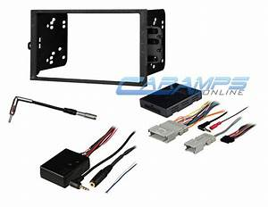Double Din Car Stereo Dash Kit W   Onstar  U0026 Rear Seat Dvd