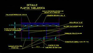 Window Detail Steel Deck With False Ceiling In Autocad Cad 33 94 Kb