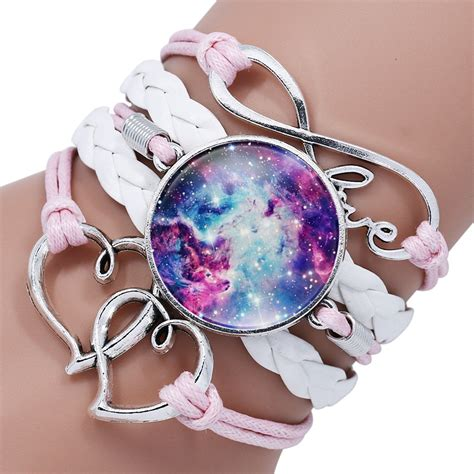 ningxiang infinity love heart glass galaxy leather