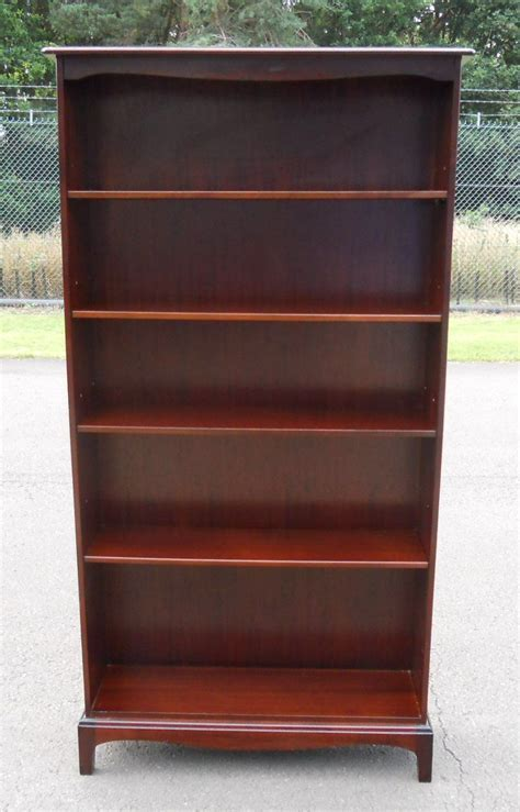Tall Mahogany Open Bookcase by Stag