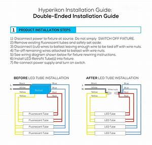 Double Led Tube Light Wiring Diagram