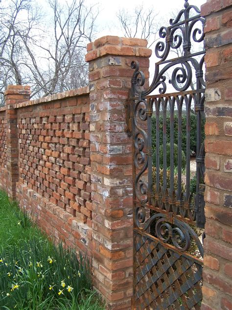 brick wall with gate tara dillard orchard wall gate