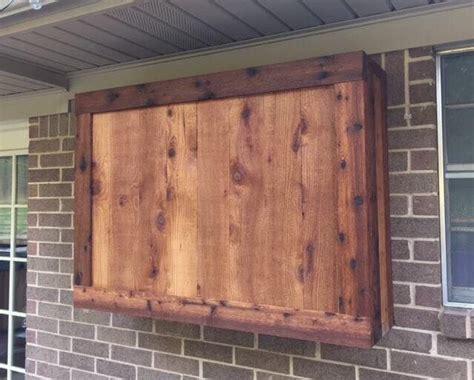 outdoor tv cabinet   rough cedar lumber outdoor tv