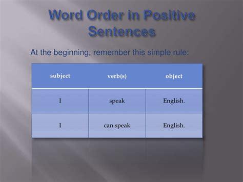 word order  sentences academichelpnet