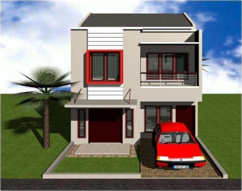 desain rumah minimalis  lantai lebar  meter